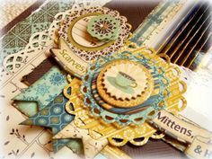 Bo Bunny: Two Woot's for Spellbinders!! Lacey Scalloped Circles, layered