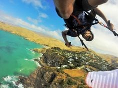 Photo of the Day! Scott Merriman speed wing soaring upside down at Sumner Cliffs in New Zealand.