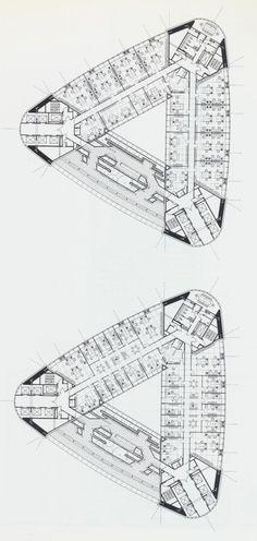 Norman Foster / Commerzbank Tower, Frankfurt, Germany, 1991-97