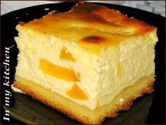 In my kitchen: Sernik brzoskwiniowy Polish Desserts, Polish Recipes, Polish Food, Bakery Recipes, Dessert Recipes, Cooking Recipes, Raspberry Cheesecake, Pumpkin Cheesecake, Polish Easter