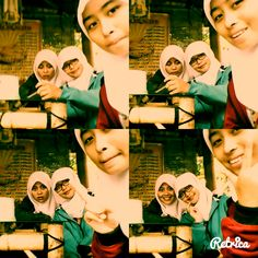 with friend