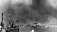 The view of the Pearl Harbor Navy Yard from the Submarine Base during the Dec. The USS Narwhal is in the left foreground. Pearl Harbor 1941, Pearl Harbor Day, Pearl Harbor Attack, Honduras, American Civil War, American History, Trinidad, Jamaica, Day Of Infamy