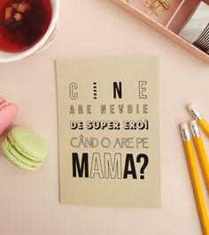 felicitare_cadou_pentru_mama_super_hero_mum_2 8 Martie, 8th Of March, Ladies Day, Letter Board, Funny Jokes, Cards, Facebook, Books, Libros
