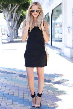 Little Black Overall Dress