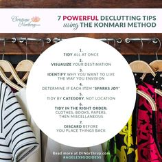 7 Powerful Decluttering Tips Using the KonMari Method via DrNorthrup.com #organizing