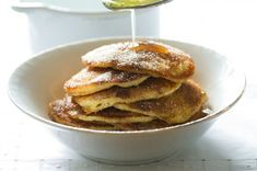 Lívanečky se skořicí Pancakes, Food And Drink, Menu, Breakfast, Menu Board Design, Morning Coffee, Pancake, Crepes