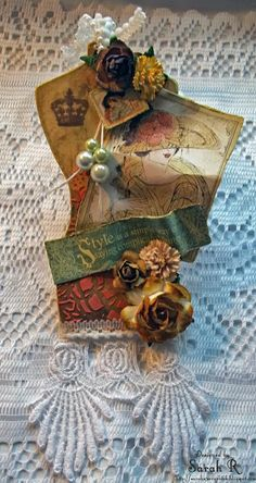 Scattered Pictures and Memories: A Ladies' Diary Dressform Tag - Scraps of Darkness Tag Trade #Graphic45