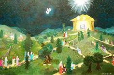 "Saatchi Art Artist Katia de Carvalho; Painting, ""Nativity"" #art"