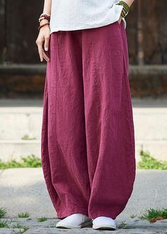 Loose linen clothes Pakistani Women Knickerbockers Loose Autumn Linen Pants Linen Pants Women, Linen Trousers, Pants For Women, Clothes For Women, Cheap Boutique Clothing, Womens Clothing Stores, Clothing Websites, Fashion Boutique, Women's Clothing