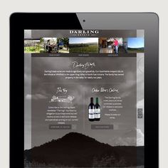 #flashbackfriday from the folio… to the gorgeous website we designed for our client at 'Darling Estate Winery' Happy Friday!  #websitedesign #boutiquewinery #brandingdevelopment #darlingestate #epcreative