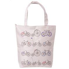 Handy Cotton Zip Up Shopping Bag Fun Cycling by getgiftideas