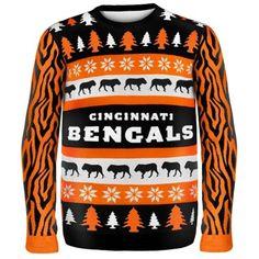 Cincinnati Bengals Wordmark Ugly Sweater for the next Ugly Sweater Party-LAUREN
