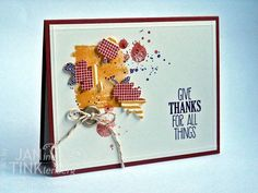 For All Things with Washi Leaves by JanTInk - Cards and Paper Crafts at Splitcoaststampers