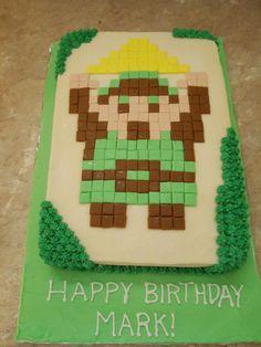 8-bit Legends of Zelda Cake #zeldacake #8bitlegendsofzeldacake