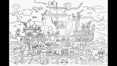 This week Ive finished super-detailed pitare ship coloring illustration. Its going to be a giant coloring page 12080cm to color with the while family:) I secretly love watching 50sec time-lapses of something Ive been working on for hours:)