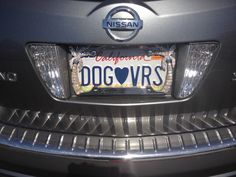 Dog Nissan Murano Vanity Plate Blue Books License Plates Pet Clothes