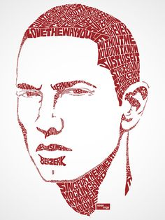 Eminem Typographic Design Buy this ShirtorPrint