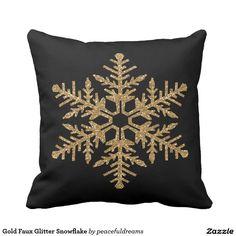 Gold Faux Glitter Snowflake