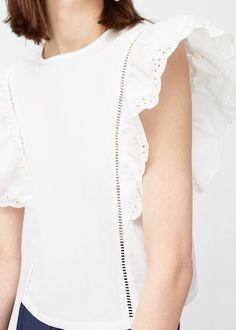 Blusa algodón volante   MNG