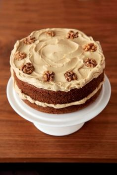 COFFEE AND WALNUT LAYER CAKE | Recipes | Nigella Lawson