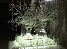 Ice Vases for Winter Wonderland Party  New York, NY