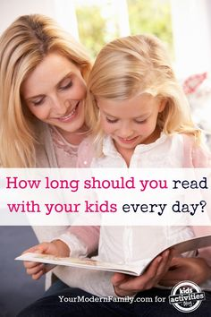 How long should you read with your kids every day? Here is the magic number.