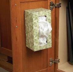 Comment réutiliser les boites de mouchoirs vides
