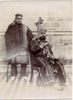 Maharajah and his Prime Minister - Jaipur, 1890's