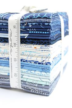 TRUE BLUE - a denim colored fabric line by ZEN CHIC for Moda, arriving in stores APRIL 2017