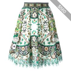 Etro paisley print A-line skirt