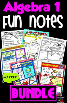 Engaging and Fun way to learn important topics in Algebra 1. Students learn and explore and use their creativity to reinforce skills. Fun Comic Book Super Hero theme encourages positive attitudes while helping you teach. Print & Go, almost no prep for you. Full solutions included.