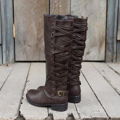 The Braided Back Boots, Rugged Fall & Winter Boots from Spool No.72. | Spool No.72