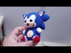 Sonic Amigurumi Crochet - Nuevo Proyecto - YouTube Yarn Animals, Crochet Animals, Crochet Toys, Crochet Baby, Free Crochet, Baby Patterns, Doll Patterns, Crochet Patterns, Origami Flowers Tutorial