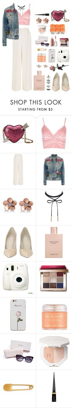 """watch me burn"" by shealwaysfashion ❤ liked on Polyvore featuring Gucci, Boohoo, Merchant Archive, Allurez, Marc Jacobs, Fujifilm, Bobbi Brown Cosmetics, Sara Happ, GUESS and Burberry"