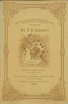 Cabinet Back: Mrs. E.N. Lockwood by depthandtime, via Flickr