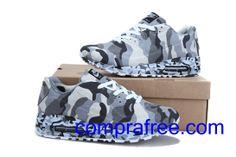 Comprar barato hombre Nike Air Max Zapatillas (color:blanco,negro,gris) en linea en Espana. Air Max 90, Nike Air Max, Zapatillas Nike Air, Baby Car Seats, Color, Fashion, Black White, Gray, Nike Men