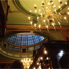 The ceiling of The Counting House pub. City of London.