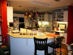 project case study kitchen renovation from 80 s to now, doors, home improvement, kitchen design, kitchen island, Kitchen BEFORE Dark dated with laminate cabinetry that was popular back in the 80 s