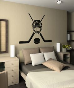 Vinyl Wall Decal Sticker Hockey Equipment #OS_AA722 | Stickerbrand wall art decals, wall graphics and wall murals.