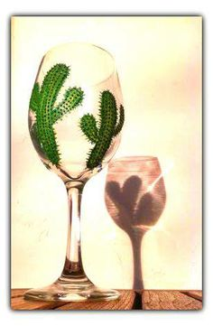 Quench your thirst with hand painted cactus creation! <3 Malibu Suns™