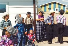 Hutterites and how they dress. Not Amish, but they are from the same Anabaptist roots. hutterite-children-lehrerleut
