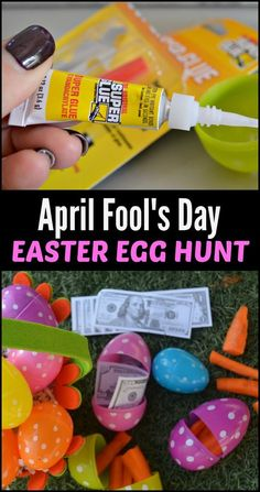 Here are some hilariously sneaky ideas on how to fake out the kids at your April Fool's Day Easter Egg Hunt! funny hilarious Fun (and Funny) DIY April Fool's Day Easter Egg Hunt - funny hilarious