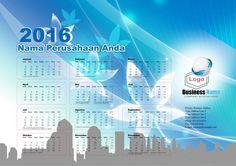 Calendar 2016 - Free Download Vector PDF JPG - Design_03_Arcs