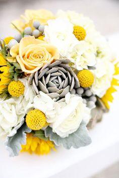 bridal bouquet idea; Kay English Photography Yellow wedding, lemon wedding, yellow wedding theme