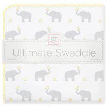 SAVE today!  Ultimate Swaddle Blanket - Elephant & Chickies #GreatBabyBlanket #NewBaby #ShowerGift