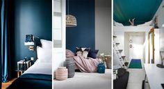 Le bleu est une couleur idéale pour décorer une chambre. Voici une foule d'inspirations pour jouer avec cette teinte apaisante dans votre coin nuit.