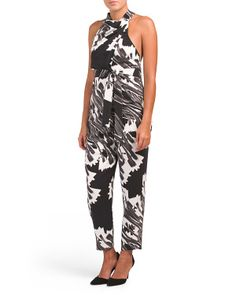 47602c27ffa Drape Front Printed Jumpsuit
