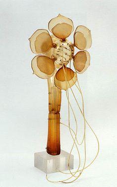 Lee Bontecou untitled [flower sculpture] 1968 vacuum-formed plastic, 21 x 10 x 9 in. Techno-Eye