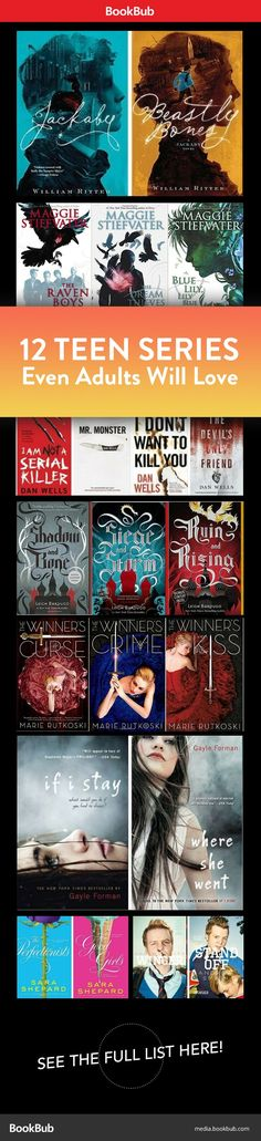 12 teen book series! Perfect for fans of The Hunger Games, Divergent, and Twilight.