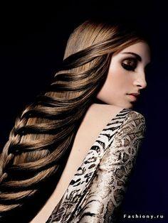 Варианты причесок для Новогодней ночи 2013 / простые причёски на средние волосы